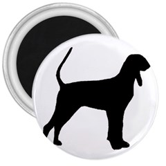 Black And Tan Coonhound Silo Black 3  Magnets
