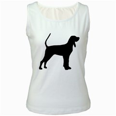 Black And Tan Coonhound Silo Black Women s White Tank Top
