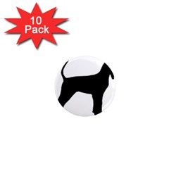 Black And Tan Coonhound Silo Black 1  Mini Magnet (10 pack)