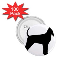 Black And Tan Coonhound Silo Black 1.75  Buttons (100 pack)