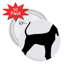 Black And Tan Coonhound Silo Black 2.25  Buttons (10 pack)