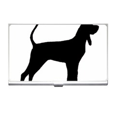 Black And Tan Coonhound Silo Black Business Card Holders