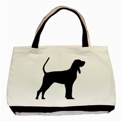 Black And Tan Coonhound Silo Black Basic Tote Bag