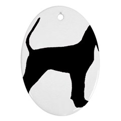 Black And Tan Coonhound Silo Black Oval Ornament (Two Sides)