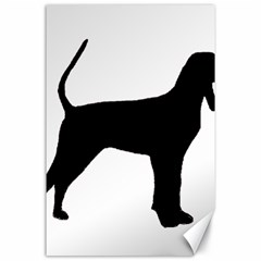 Black And Tan Coonhound Silo Black Canvas 24  x 36