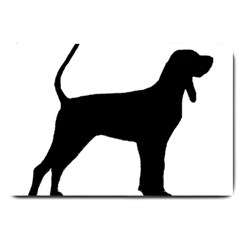 Black And Tan Coonhound Silo Black Large Doormat