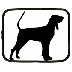 Black And Tan Coonhound Silo Black Netbook Case (Large)