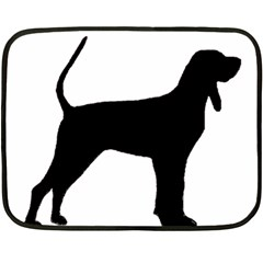 Black And Tan Coonhound Silo Black Double Sided Fleece Blanket (Mini)