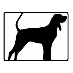 Black And Tan Coonhound Silo Black Fleece Blanket (Small)