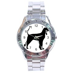 Black And Tan Coonhound Silo Black Stainless Steel Analogue Watch