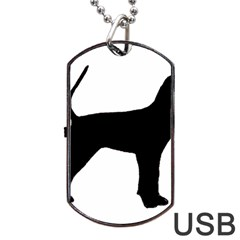 Black And Tan Coonhound Silo Black Dog Tag USB Flash (One Side)