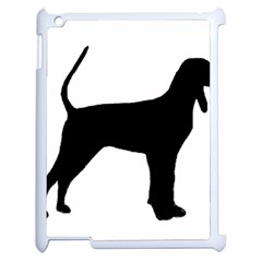 Black And Tan Coonhound Silo Black Apple iPad 2 Case (White)