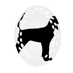 Black And Tan Coonhound Silo Black Ornament (Oval Filigree)
