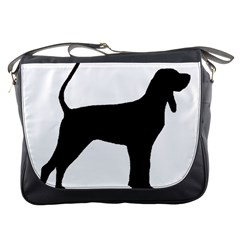 Black And Tan Coonhound Silo Black Messenger Bags