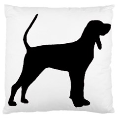 Black And Tan Coonhound Silo Black Large Cushion Case (One Side)