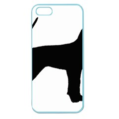 Black And Tan Coonhound Silo Black Apple Seamless iPhone 5 Case (Color)