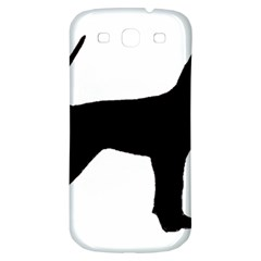 Black And Tan Coonhound Silo Black Samsung Galaxy S3 S III Classic Hardshell Back Case