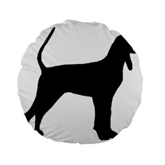 Black And Tan Coonhound Silo Black Standard 15  Premium Round Cushions