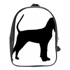 Black And Tan Coonhound Silo Black School Bags (XL)