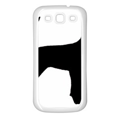 Black And Tan Coonhound Silo Black Samsung Galaxy S3 Back Case (White)