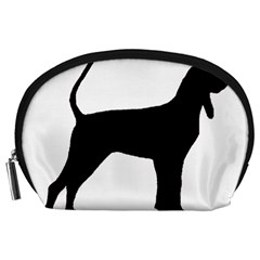 Black And Tan Coonhound Silo Black Accessory Pouches (Large)
