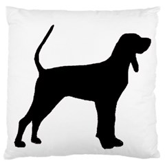 Black And Tan Coonhound Silo Black Standard Flano Cushion Case (Two Sides)