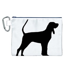 Black And Tan Coonhound Silo Black Canvas Cosmetic Bag (L)