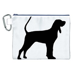Black And Tan Coonhound Silo Black Canvas Cosmetic Bag (XXL)
