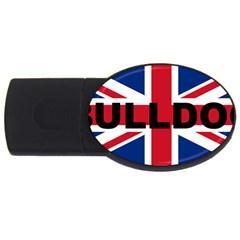 Bulldog England United Kingdom Name Flag USB Flash Drive Oval (1 GB)