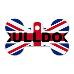 Bulldog England United Kingdom Name Flag Dog Tag Bone (One Side)