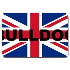 Bulldog England United Kingdom Name Flag Large Doormat