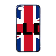Bulldog England United Kingdom Name Flag Apple iPhone 4 Case (Black)