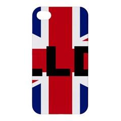 Bulldog England United Kingdom Name Flag Apple iPhone 4/4S Premium Hardshell Case