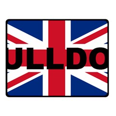 Bulldog England United Kingdom Name Flag Double Sided Fleece Blanket (Small)