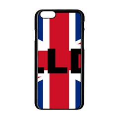 Bulldog England United Kingdom Name Flag Apple iPhone 6/6S Black Enamel Case
