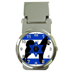Cannan Dog Silhouette Flag Of Israel Money Clip Watches