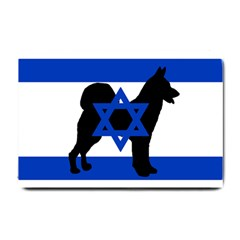 Cannan Dog Silhouette Flag Of Israel Small Doormat