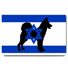 Cannan Dog Silhouette Flag Of Israel Large Doormat