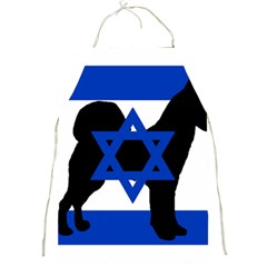 Cannan Dog Silhouette Flag Of Israel Full Print Aprons