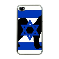 Cannan Dog Silhouette Flag Of Israel Apple iPhone 4 Case (Clear)