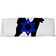 Cannan Dog Silhouette Flag Of Israel Body Pillow Case Dakimakura (Two Sides)