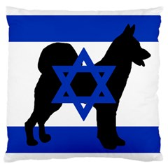 Cannan Dog Silhouette Flag Of Israel Large Cushion Case (One Side)