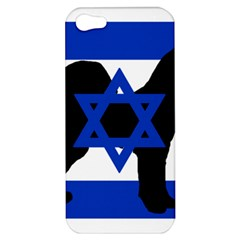 Cannan Dog Silhouette Flag Of Israel Apple iPhone 5 Hardshell Case