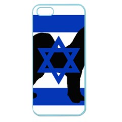 Cannan Dog Silhouette Flag Of Israel Apple Seamless iPhone 5 Case (Color)
