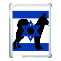 Cannan Dog Silhouette Flag Of Israel Apple iPad 3/4 Case (White)