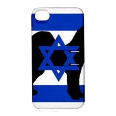 Cannan Dog Silhouette Flag Of Israel Apple iPhone 4/4S Hardshell Case with Stand
