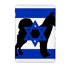Cannan Dog Silhouette Flag Of Israel Samsung Galaxy Tab 2 (10.1 ) P5100 Hardshell Case