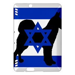 Cannan Dog Silhouette Flag Of Israel Kindle Fire HDX Hardshell Case