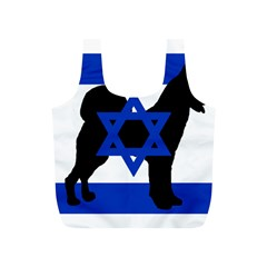 Cannan Dog Silhouette Flag Of Israel Full Print Recycle Bags (S)