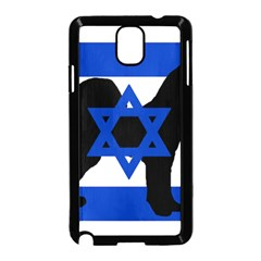 Cannan Dog Silhouette Flag Of Israel Samsung Galaxy Note 3 Neo Hardshell Case (Black)
